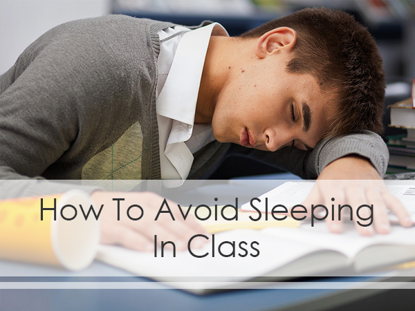 how to stay awake in class