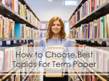 how to choose a topic for term paper