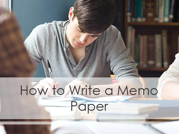 memo paper writing help